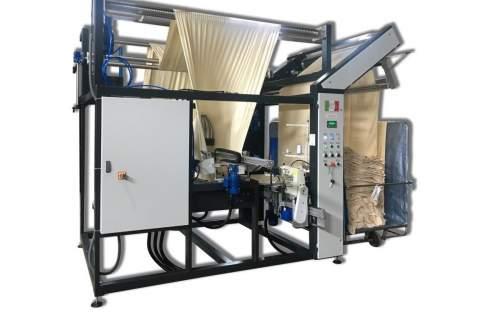 Impianto per cucitura a sacco modello T-DP BREVETTATO adatto per tessuti a maglia e trama-ordito