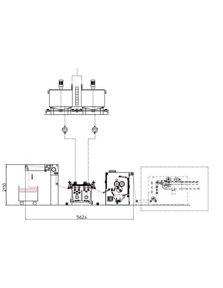 ROTOCLEAN open width washing line Ferraro