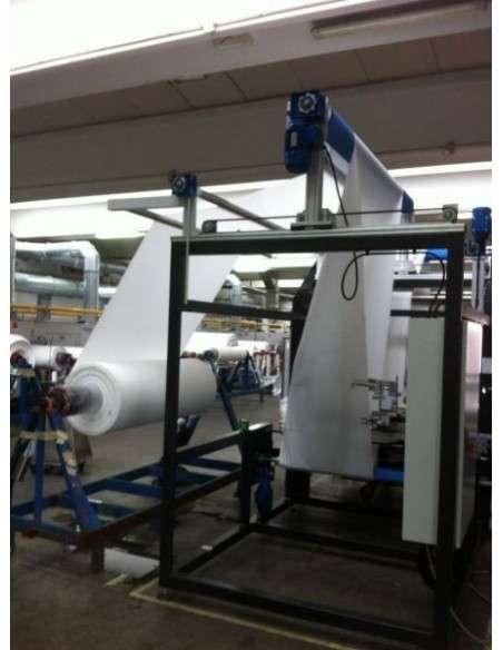 Impianto per cucitura a sacco modello T-DPS BREVETTATO adatto per tessuti a maglia e trama-ordito Texma srl - 14