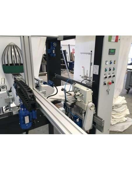 Impianto per cucitura a sacco modello T-DPS BREVETTATO adatto per tessuti a maglia e trama-ordito Texma srl - 17