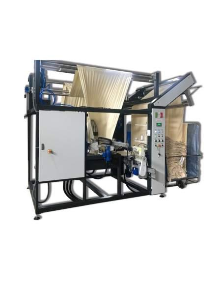 Impianto per cucitura a sacco modello T-DPS BREVETTATO adatto per tessuti a maglia e trama-ordito Texma srl - 2