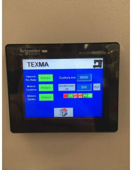 Impianto per cucitura a sacco modello T-DPS BREVETTATO adatto per tessuti a maglia e trama-ordito Texma srl - 6