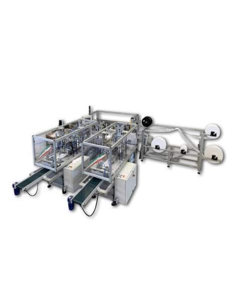 T-MASK2 impianto automatico per la produzione di mascherine chirurgiche con doppia uscita