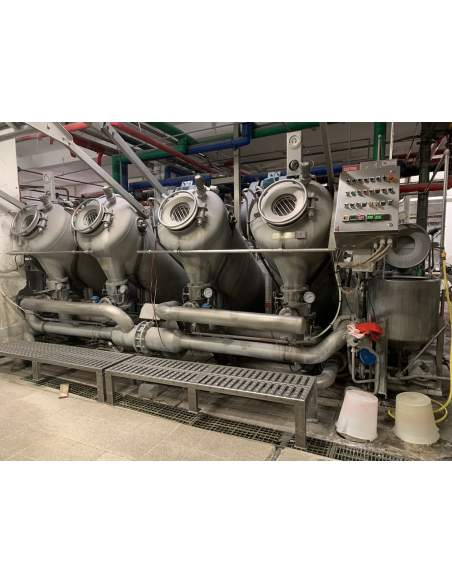 Thies TRD coupled long pipe jet dyeing machine 2+2 ropes