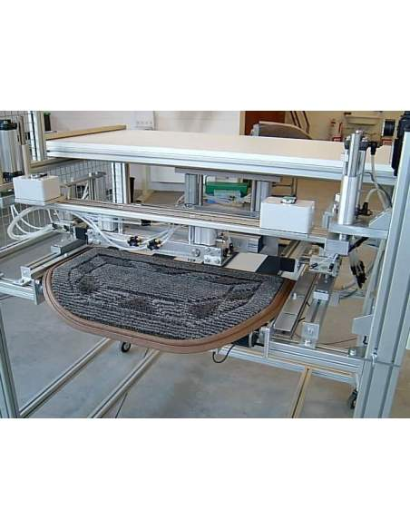T4L - Linea automatica per taglio e bordatura tappeti sui 4 lati