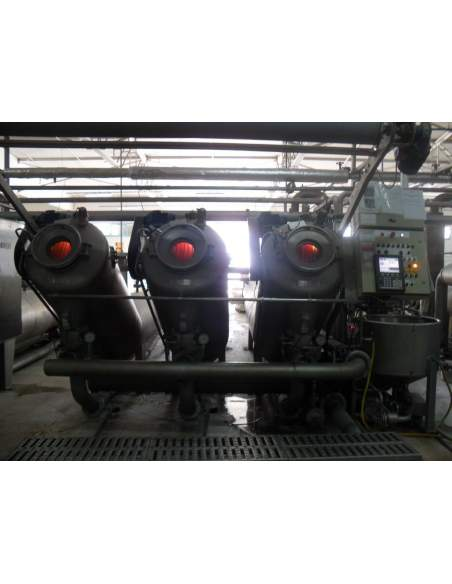 Thies TRD long pipe jet dyeing machine composed of 3 ropes
